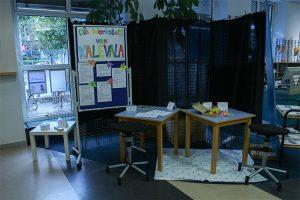 Foto: Jessica Andrischack-Schützmann Die Kalevala-Spielecke wurde von Anne-Kristin Beinhauer konzipiert und befindet sich im Erdgeschoss.